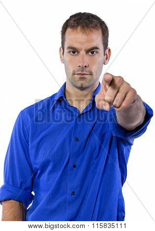 Businessman in Blue Shirt
