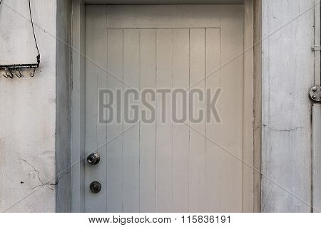 Ramshackle wooden door