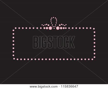 Rose Quartz Creative Deco Frame On Black