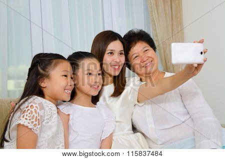 Asian Three Generations Family