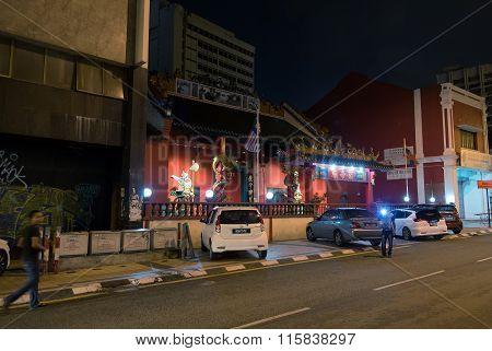 Guan Di Temple In Chinatown Kuala Lumpur