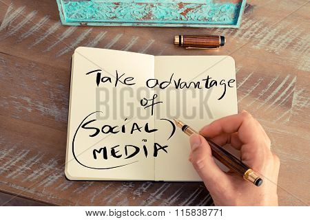 Handwritten Text Take Advantage Of Social Media