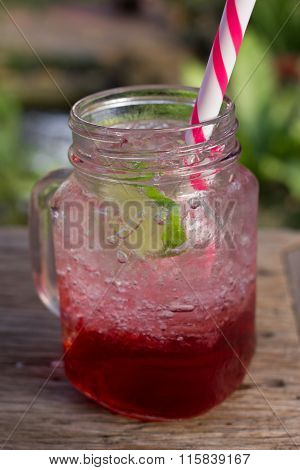 Strawberry Italian Soda.