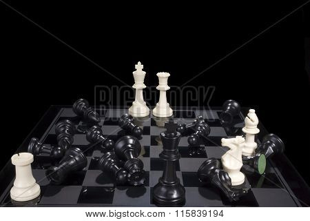 Chess Battle Black Defeat