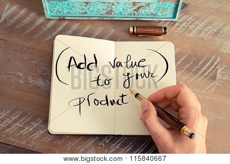Handwritten Text Add Value To Your Product
