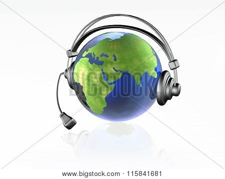 Globe With Headphones