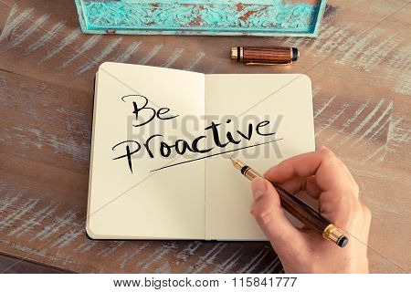 Handwritten Text Be Proactive