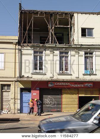 Earthquake Of Chile February 2010 In Valparaiso 3
