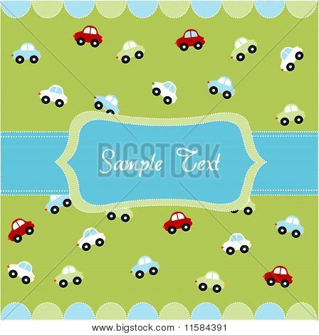 seamless pattern with little cars