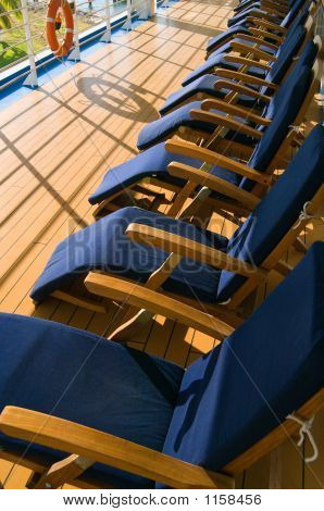 Chairs On Promenade Deck
