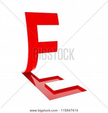 Letter F, 3d render