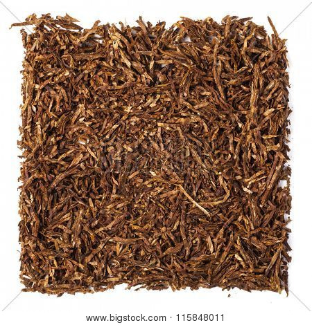 dried smoking tobacco. Isolated on a white background.