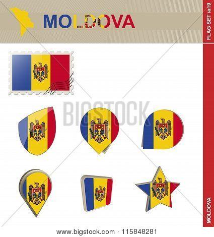 Moldova Flag Set, Flag Set #19