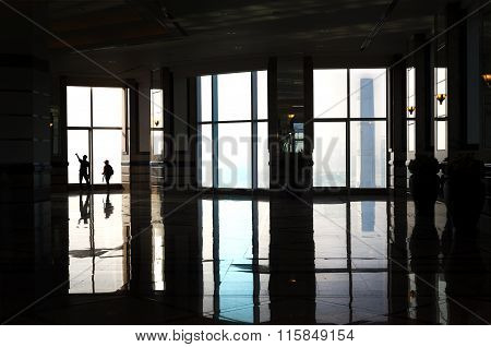 Inside The Sky Lobby Of Hong Kong Skyscraper Central Plaza
