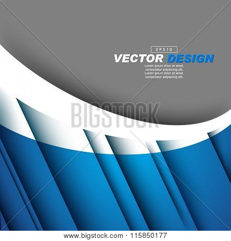 elegant diagonal lines with shadow corporate concept design