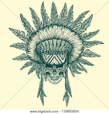 Illustration of indian chief