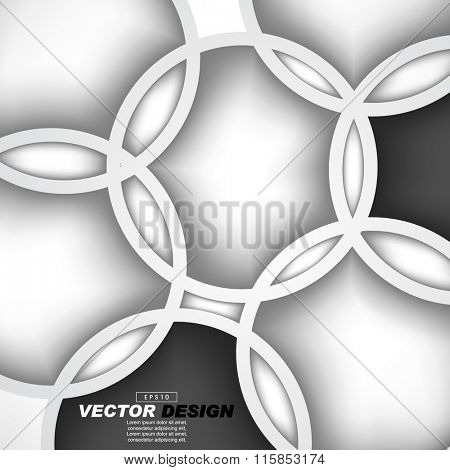 overlapping geometric circles flat layout concept vector design