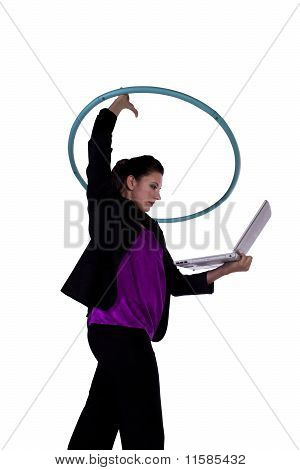 Businesswoman Exercising