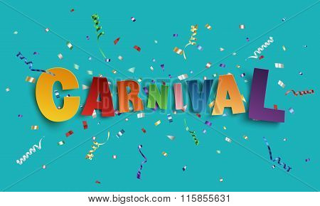 Colorful handmade font type carnival.