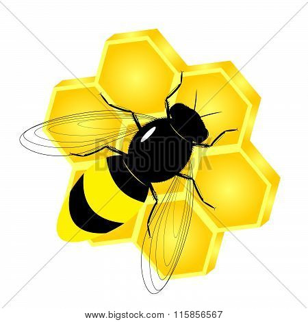 logo bee and honey.
