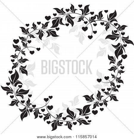floral frame - Illustration