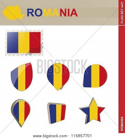 Romania Flag Set, Flag Set #21