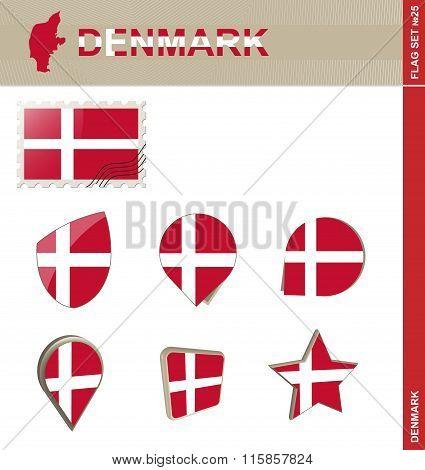 Denmark Flag Set, Flag Set #25