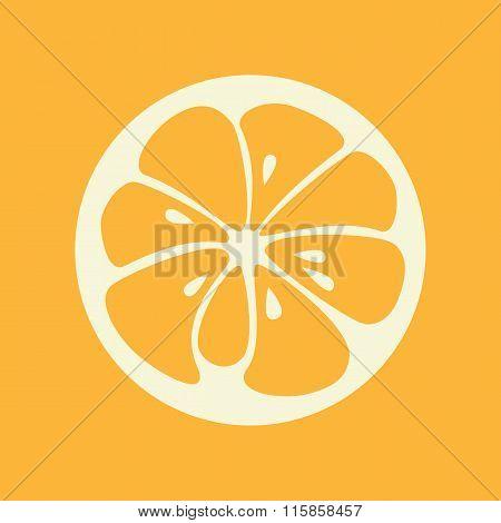 Orange stylish icon. Juicy fruit logo