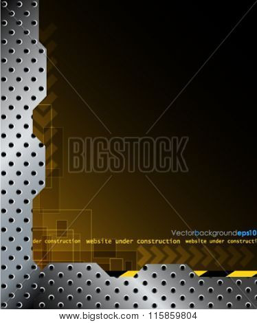 Illustration of a website under construction background