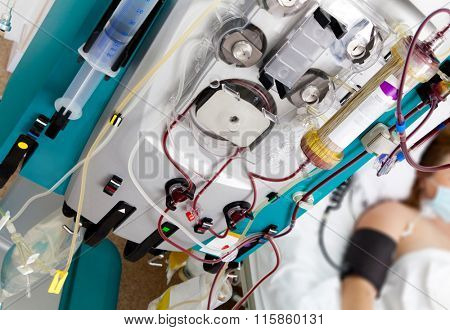 Blood Purification Medical Procedure (Plasmapheresis, Dialysis) with Medical Device in Hospital