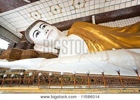 Shwethalyaung Buddha,  Bago, Myanmar.