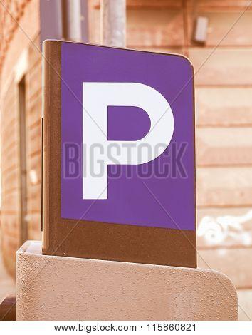Parking Sign Vintage