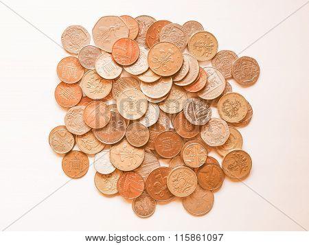 Pound Coins Vintage