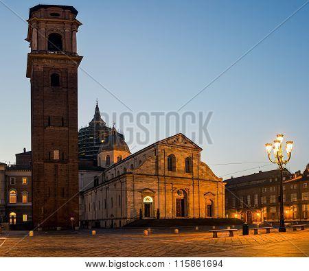 Turin Cathedral (duomo Di Torino) At Twilight
