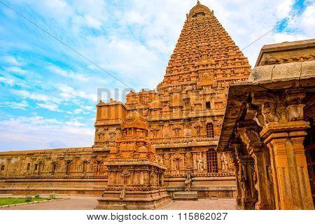 Great Architecture Of Hindu Temple Brihadishwara, India, Tamil Nadu, Thanjavour,  (trichy), Closeup