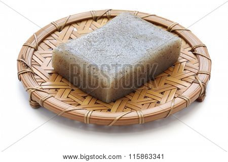 konjac, konnyaku, japanese healthy diet food isolated on white background