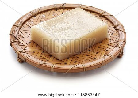 konjac, konnyaku, japanese healthy diet food isolated on white background