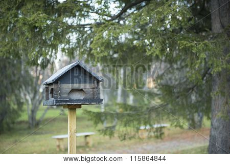 Small Wooden Houses For A Bird's Nest