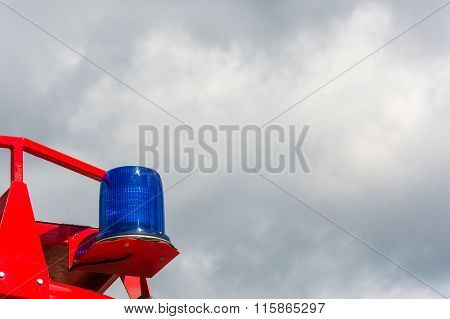 Blue Signal Lamp.