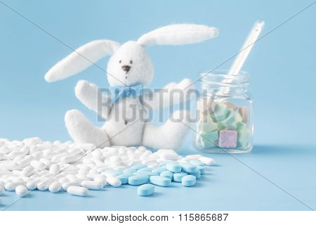 Heap Of Pills And Toy