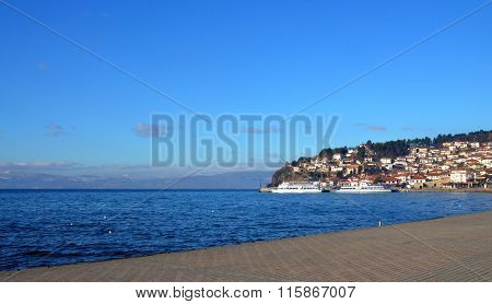 Picture of a Morning on a Lake Ohrid Macedonia