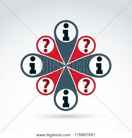 Social Information Collecting And Exchange Theme Icon, Vector Conceptual Unusual Symbol
