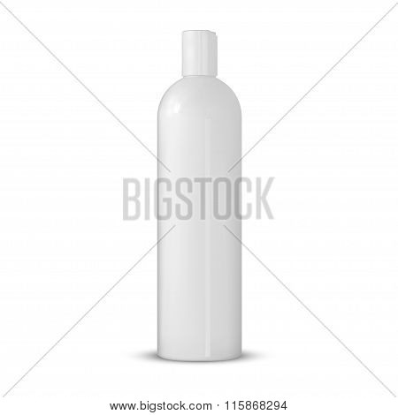 White Tubular Bottle Template.