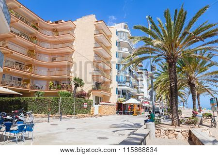 Calafell Resort Town In Sunny Summer Day, Spain