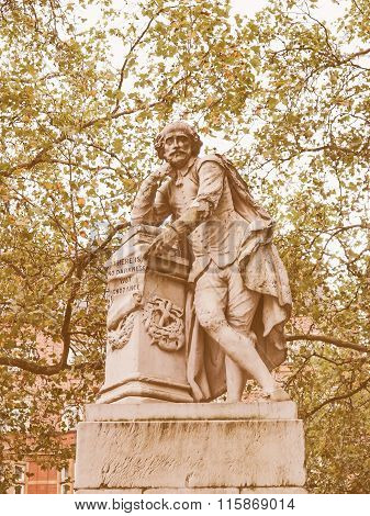 Shakespeare Statue Vintage