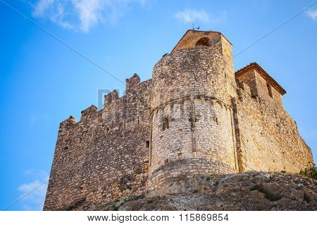 Medieval Stone Castle On The Rock, Calafell, Spain