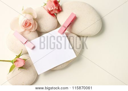 Note with roses