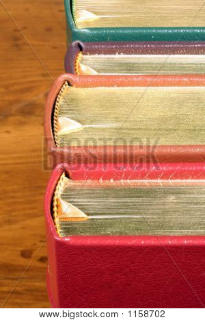 Row Of Gold Embossed Books