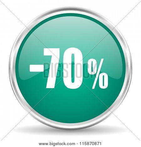 70 percent sale retail blue glossy circle web icon