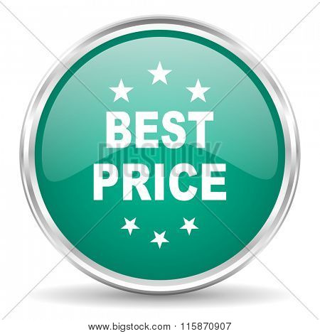 best price blue glossy circle web icon